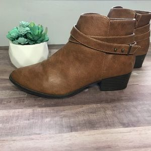 LC Lauren Conrad faux leather ankle booties
